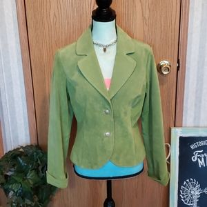 Live a Little Suede Leather Jacket Size Medium